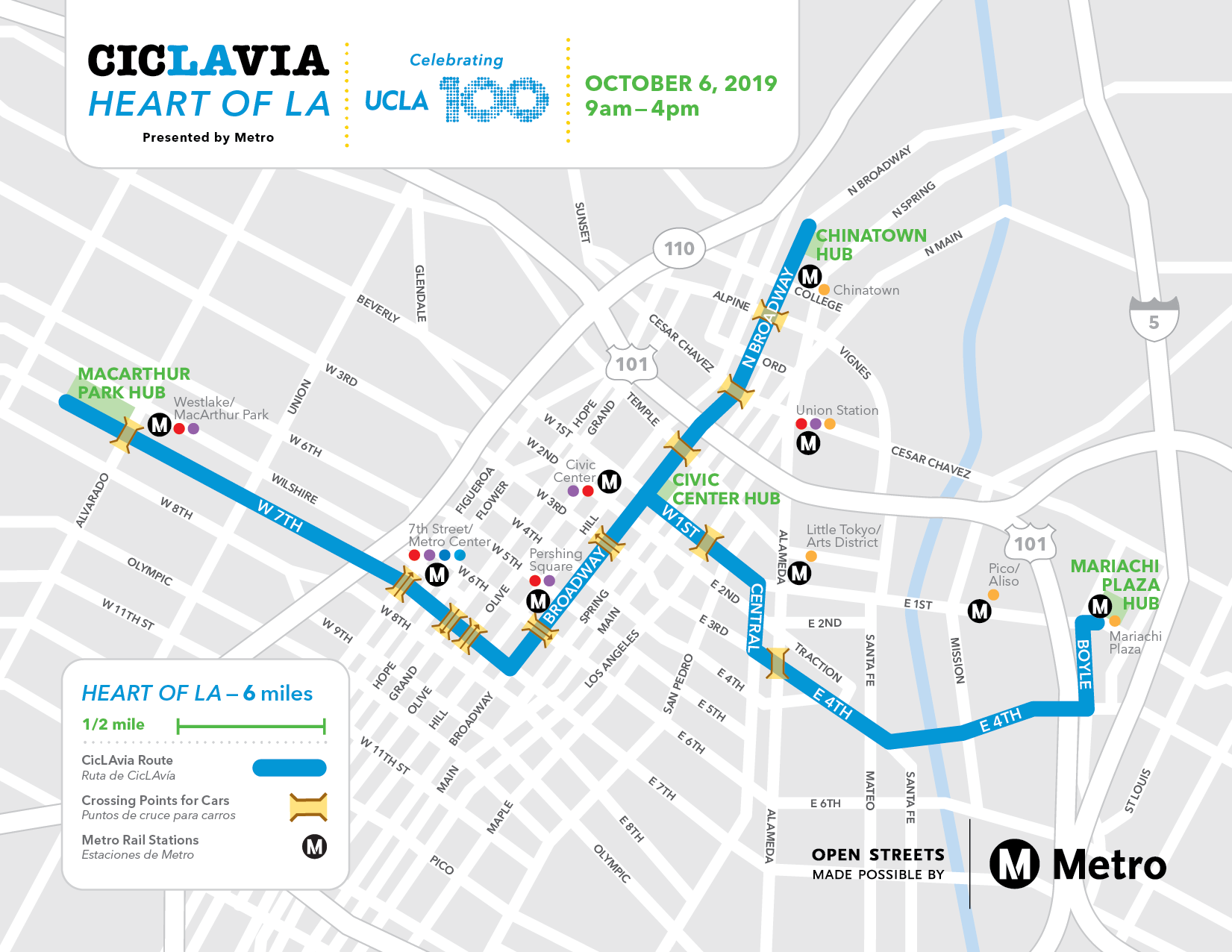 CicLAvia— of LA - CicLAvia on culver city bus map, los angeles bus map, ucla parking map, union station bus map, santa monica bus map, ucla ackerman union map,