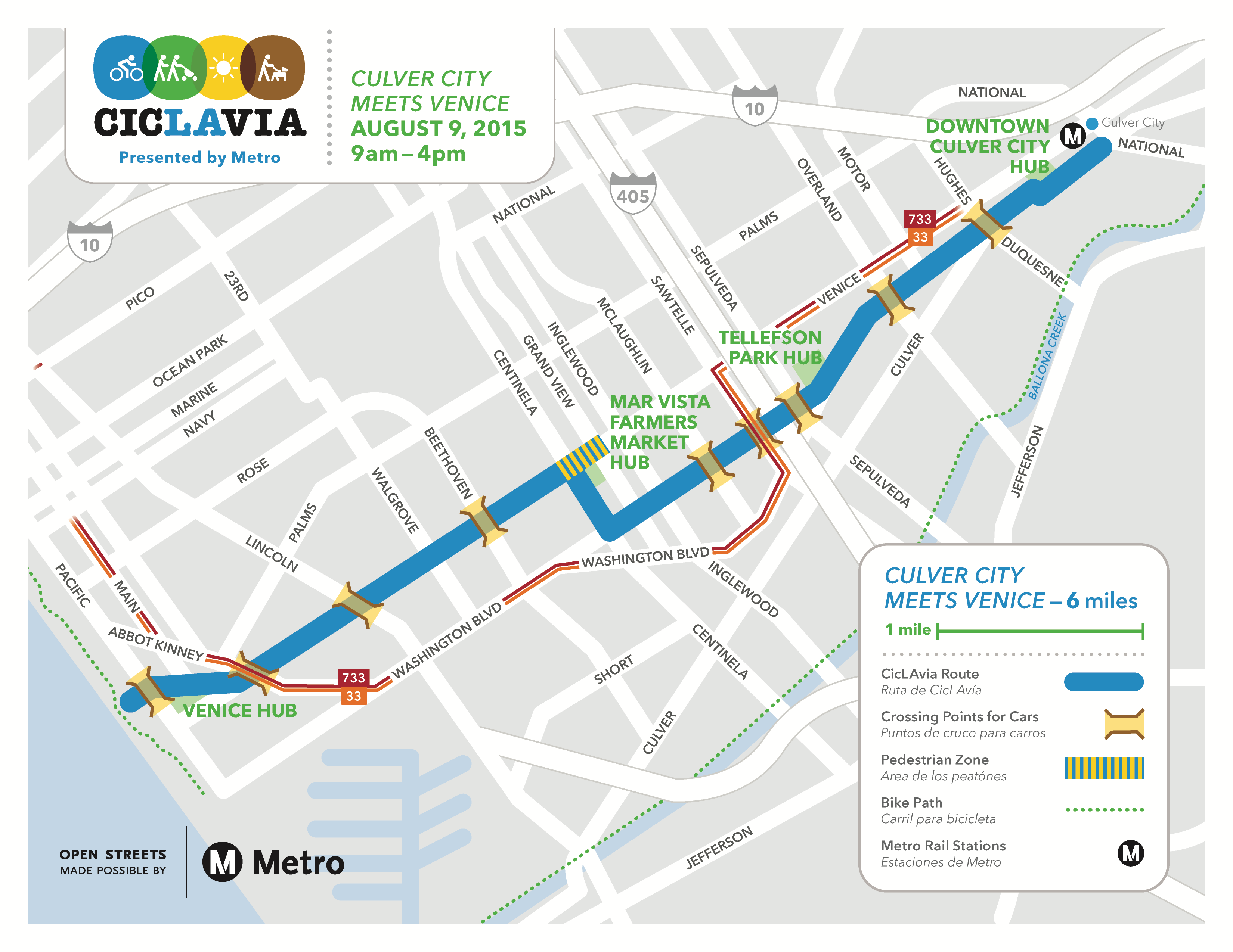 CicLAvia Culver City Meets Venice Presented By Metro - Venice beach boardwalk map