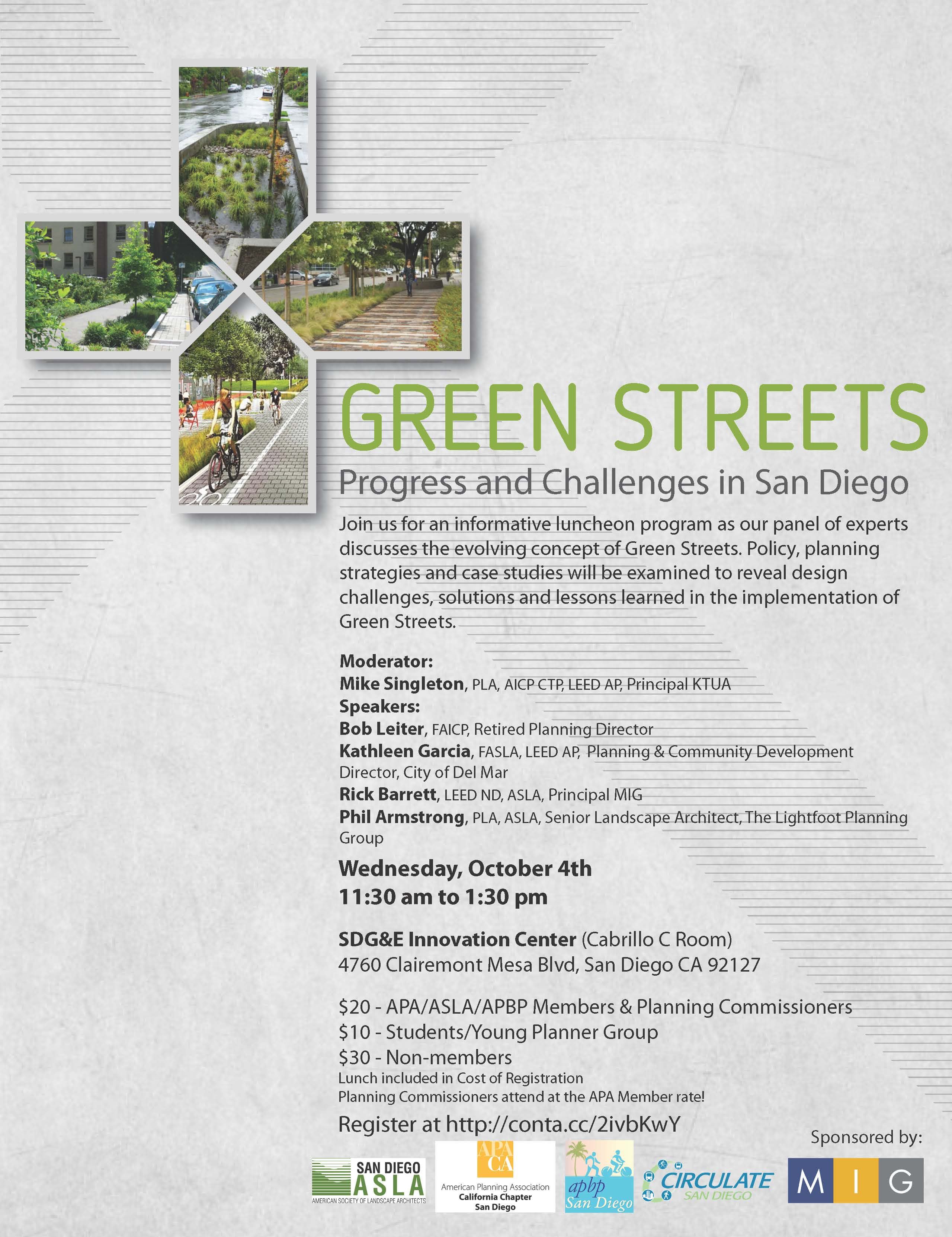 Green Streets Luncheon Circulate San Diego