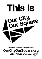This is Our City, Our Square B&W
