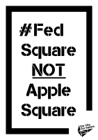 Fed Square NOT Apple Square