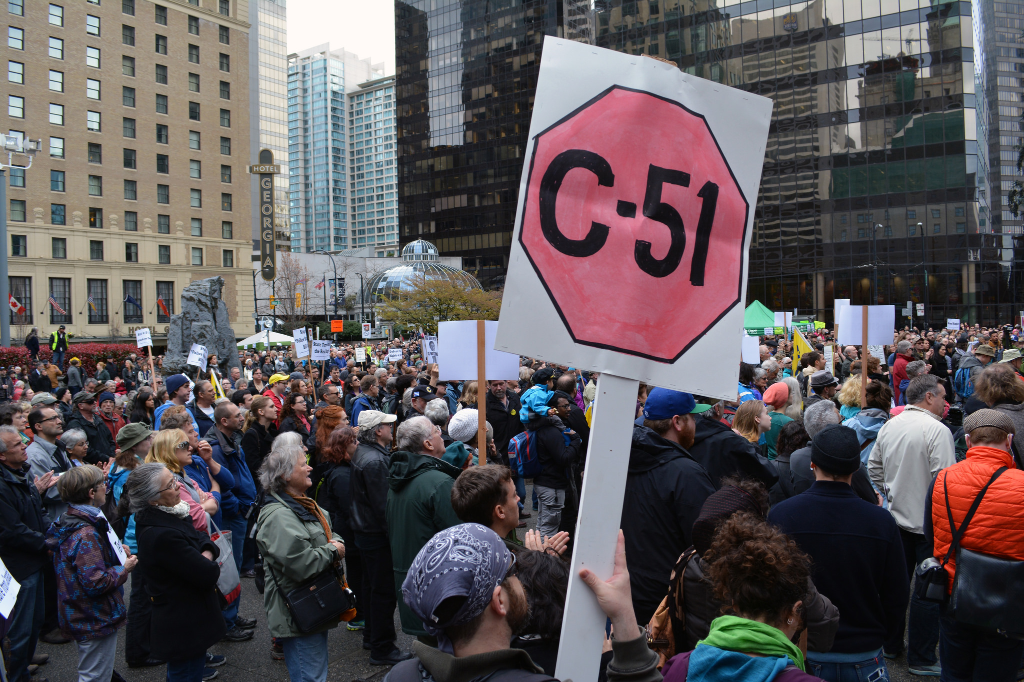 bill c-51, canada, trudeau, ralph goodale, privacy, surveillance, protest