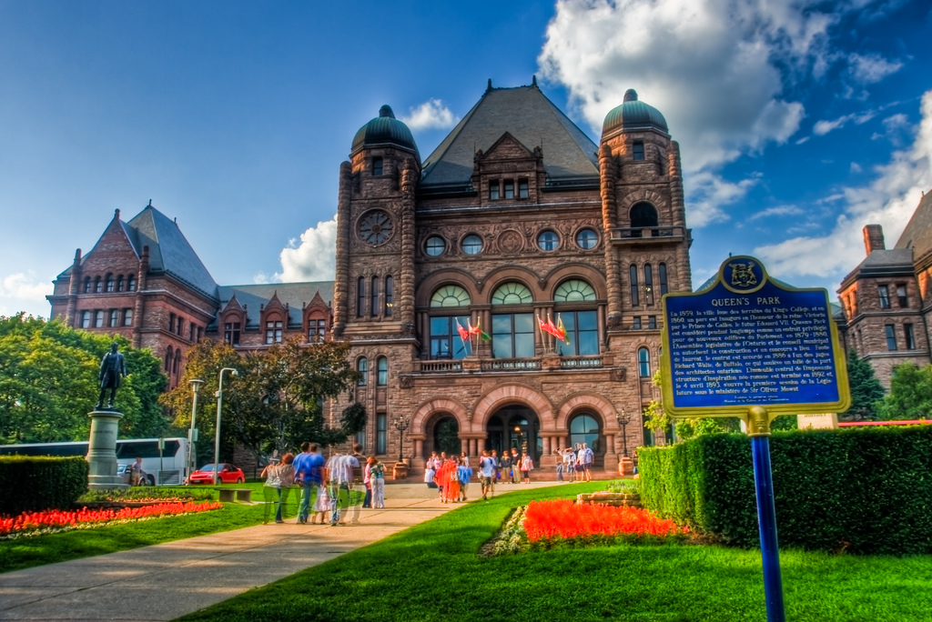 queen's park, press gallery, toronto, ontario