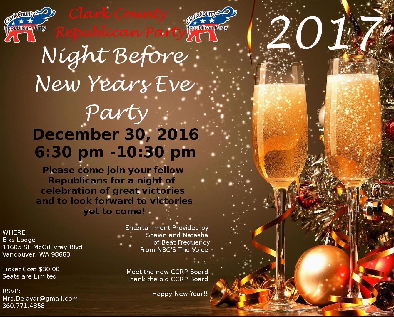 4th Annaul NYE Party