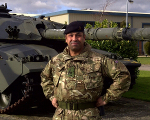 Serving with the reserve forces in Warminster, Wiltshire