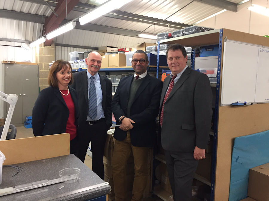 James Cleverly visits Kemtron Limited