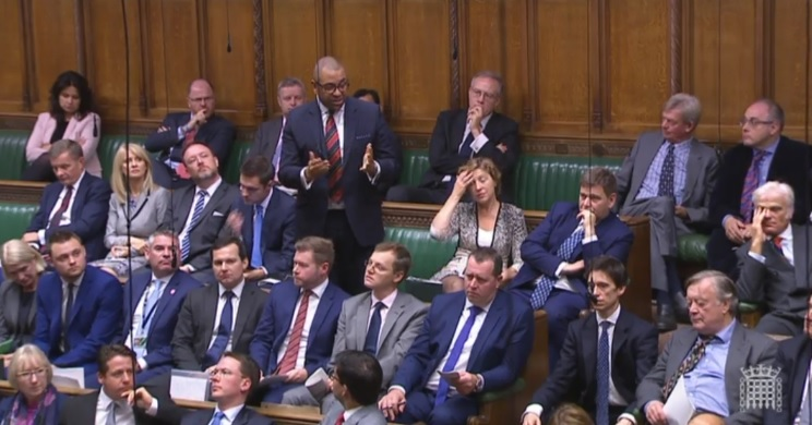 James Cleverly speaking at Prime Minister's Questions