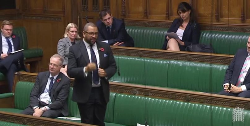 James Cleverly speaking in the House of Commons, 2nd November 2017