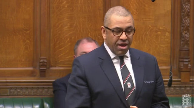 James Cleverly speaking in the House of Commons on NATO