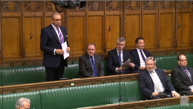 James Cleverly questions the Prime Minister in the House of Commons, 26 March 2018