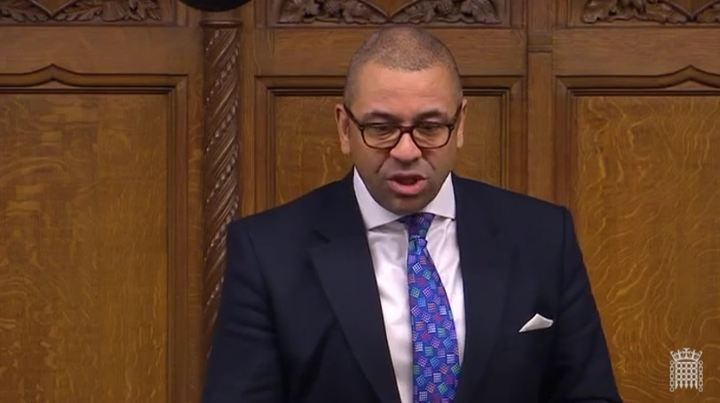 James Cleverly speaking in the House of Commons at Foreign Office Questions, March 2018