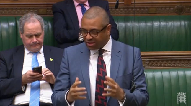 James Cleverly speaking in the House of Commons, May 2018