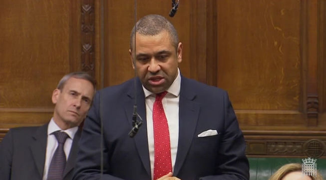 James Cleverly speaking in the House of Commons