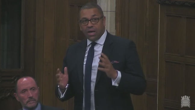 James Cleverly speaking in Westminster Hall