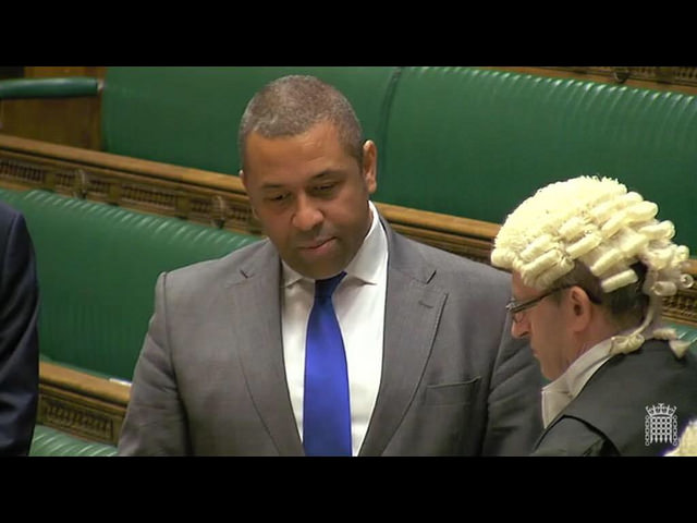 James Cleverly MP, swearing in, House of Commons