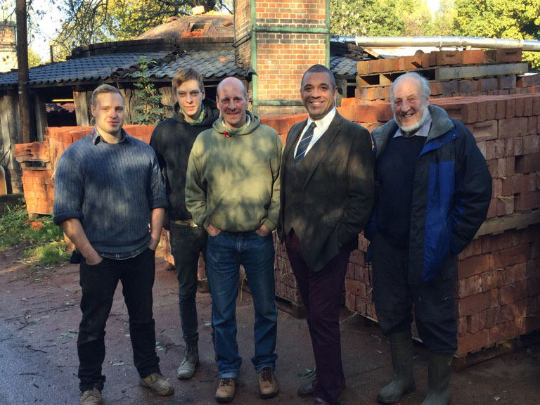 James Cleverly visit Bulmer Brick and Tile Co Ltd