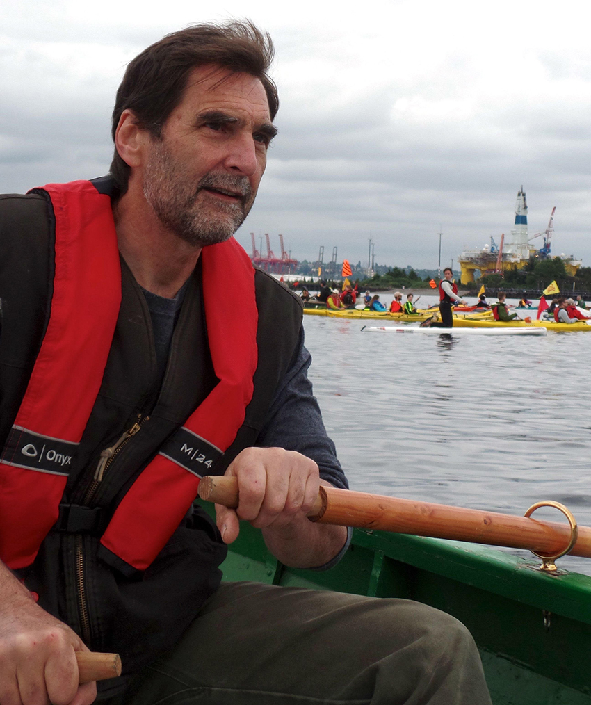 Ken Ward during ShellNo! protest
