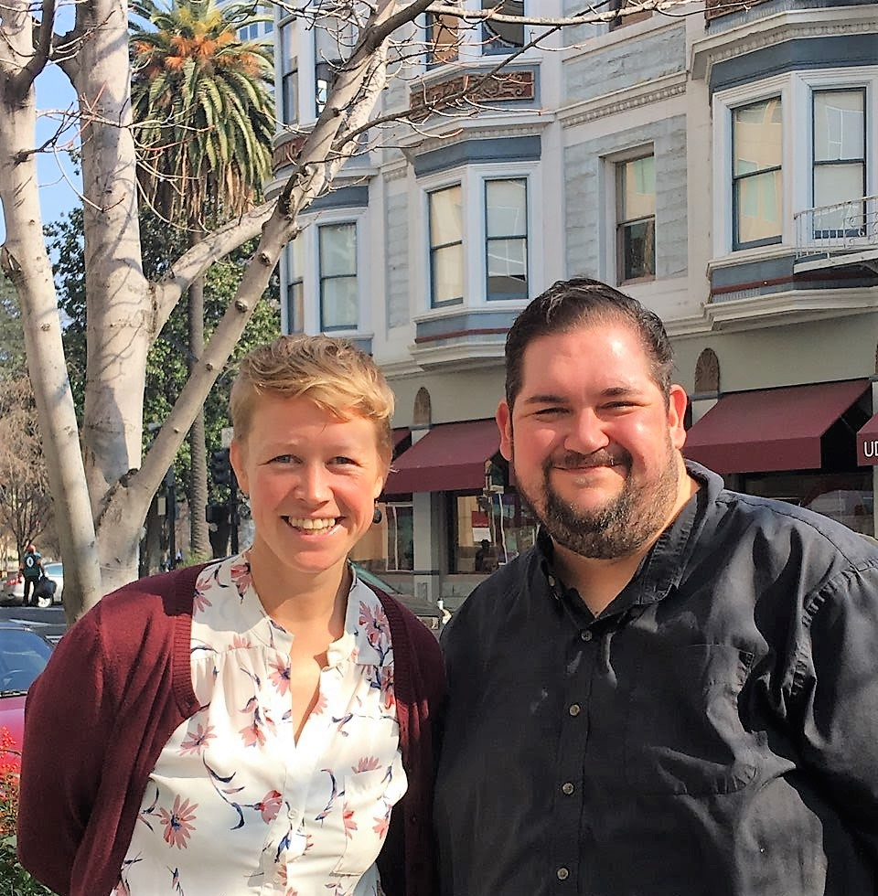 ClimatePlan's Acting Co-Directors in downtown Sacramento