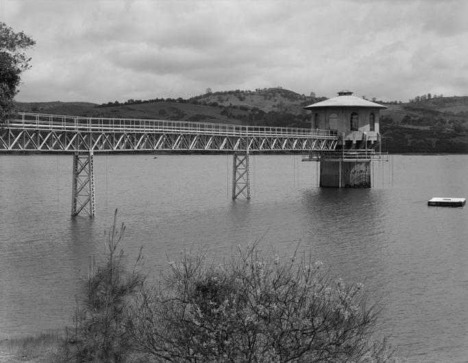 Intake tower, Pardee Dam, Mokulumne River