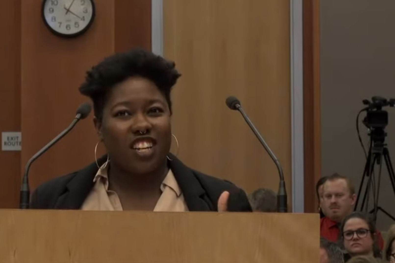 Nailah Pope Harden, ClimatePlan, gives public comment at CTC Jan 2020 meeting in Sacramento. Credit: ClimatePlan