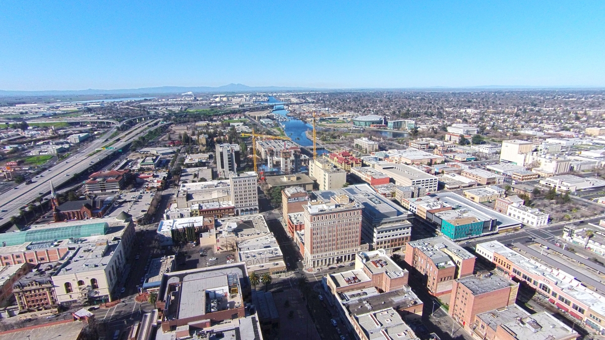 Downtown Stockton - courtesy of VisitStockton
