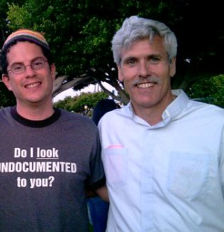 Rev. Alton (r) with Rabbi Klein, July 2010 Immigration Civil Disobedience