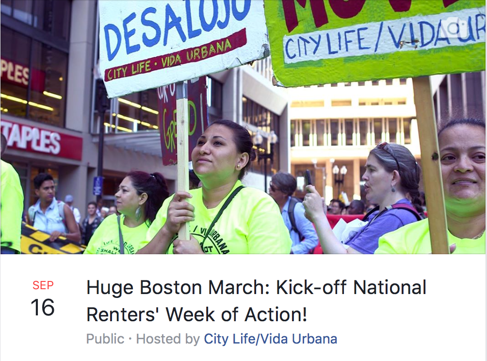 Boston kicks off National Renter Week of Action!