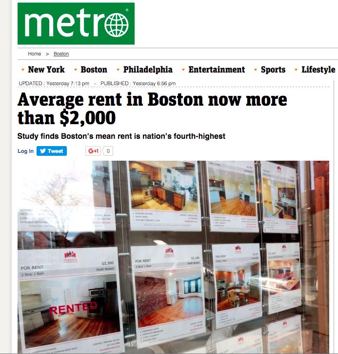 Metro Rents Rising
