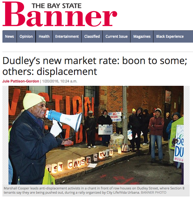 Bay State Banner Dudley Protest