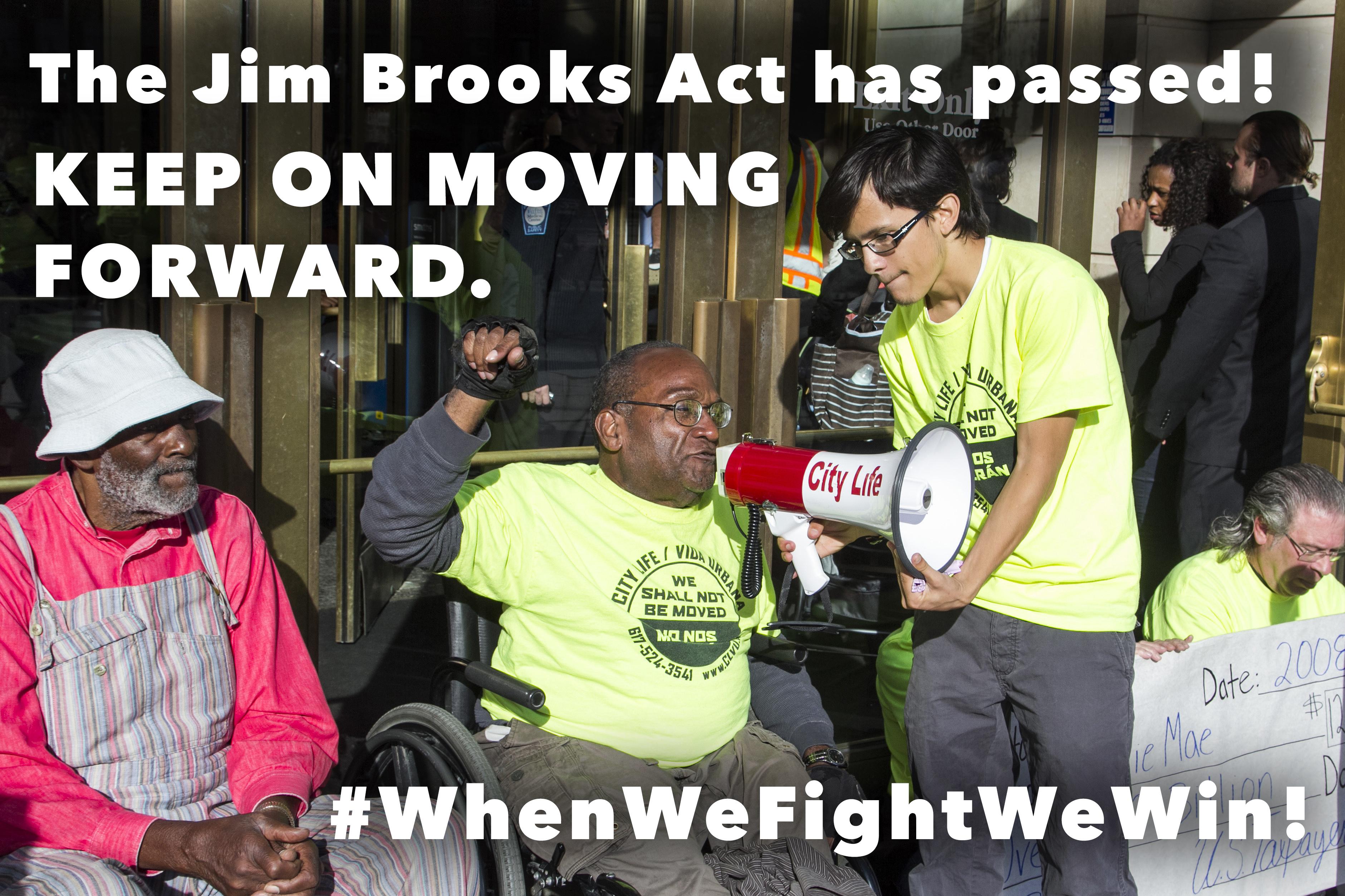 Jim Brooks Act victory!