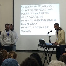PNG delegates lead us in worship
