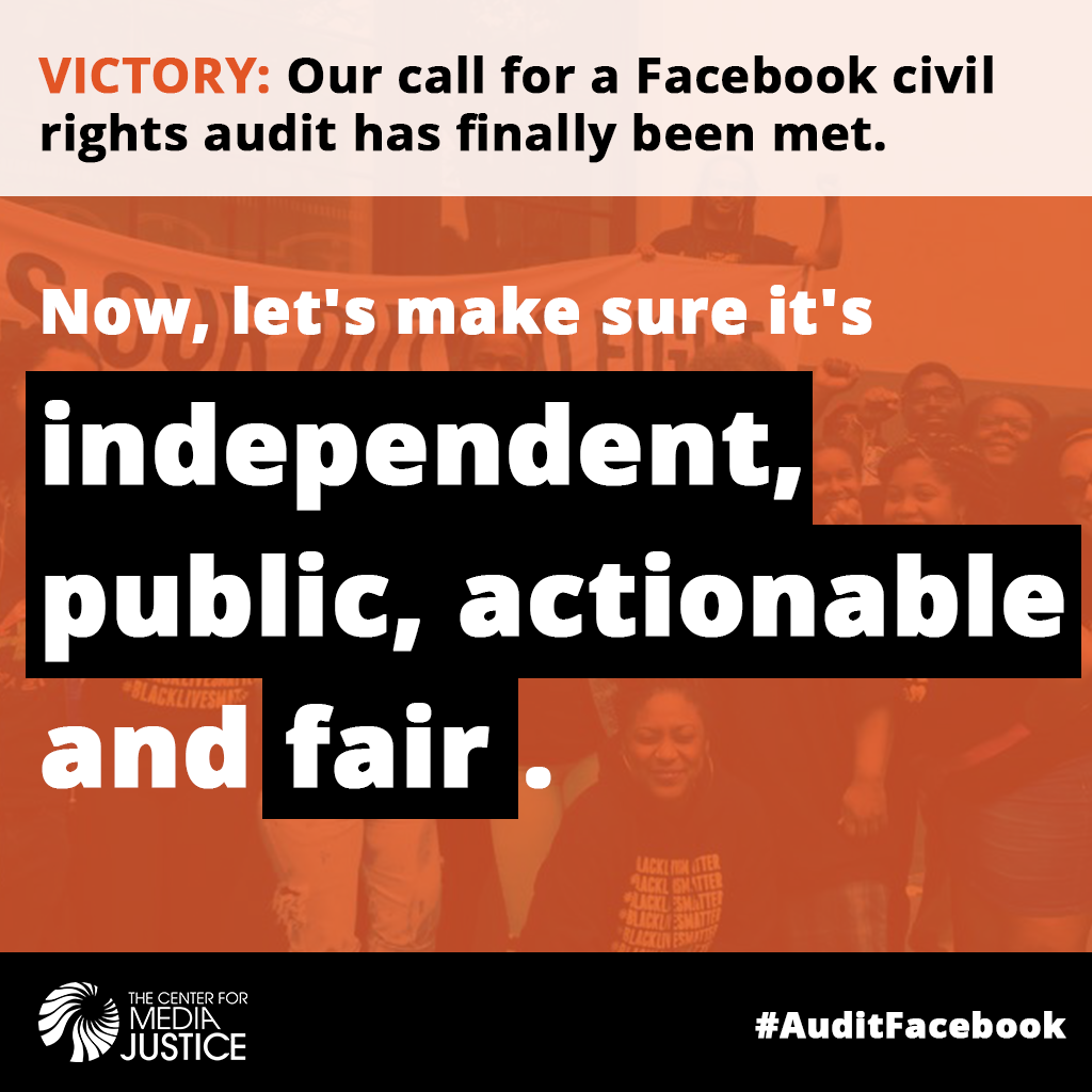 Facebook's Audit Must be Transparent and Fair