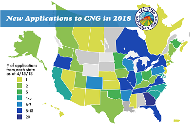 Map of Sustainable Farmers who Applied to Certified Naturally Grown