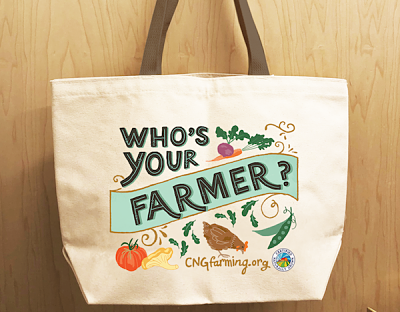 Who's Your Farmer Canvas Bag