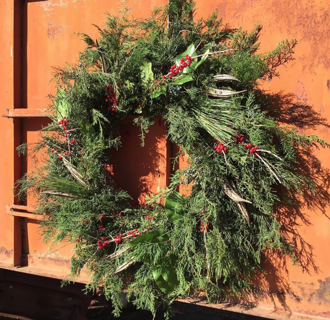Sustainable Alternative Organic Certified Christmas Wreath Decoration
