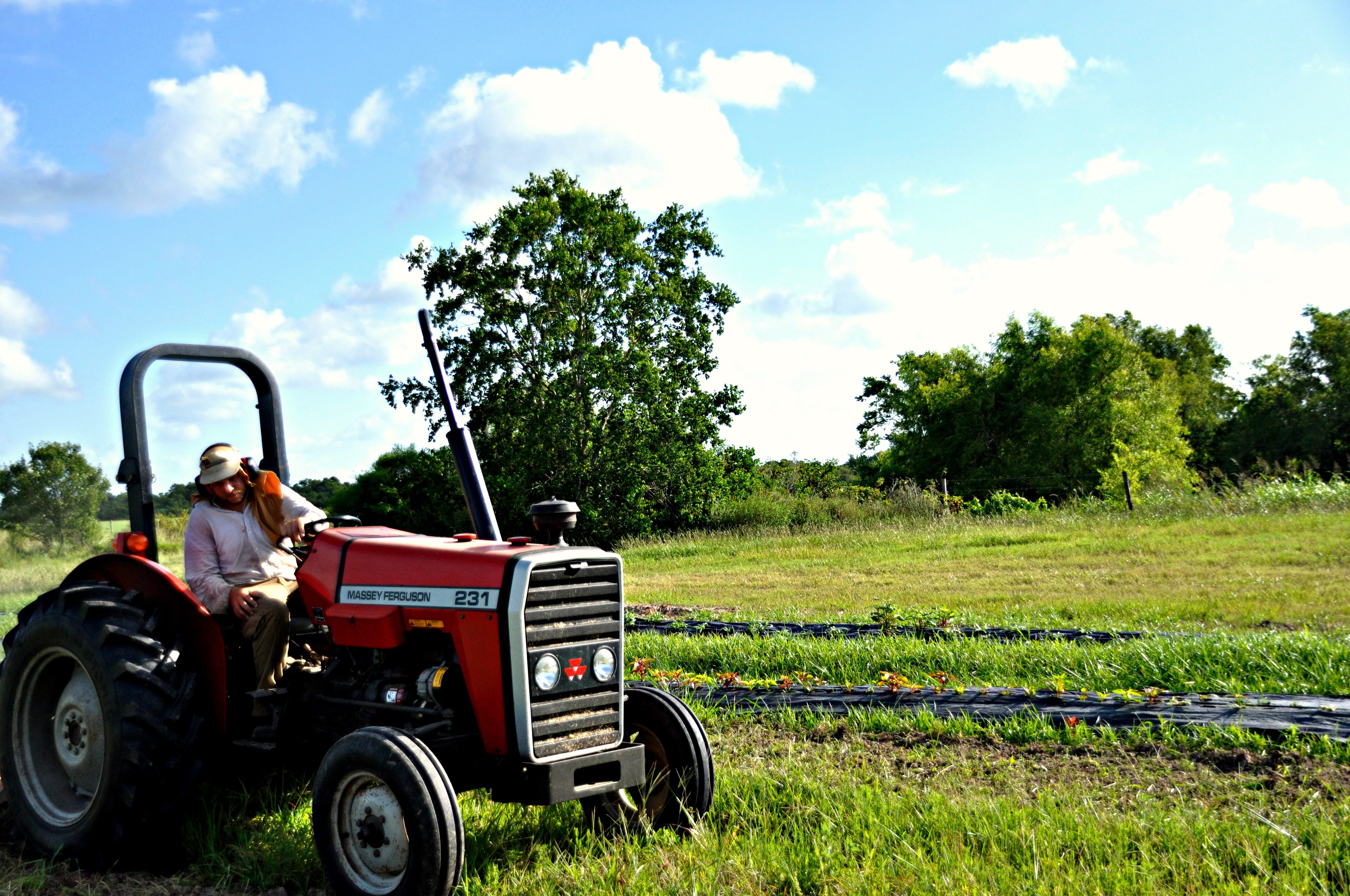 Texas Organic Alternative Tractor.