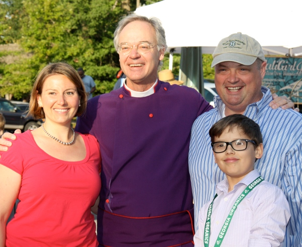 Opening Day on 2012: Lauren Carey, Dean Sam Candler, Chef Linton Hopkins Sr., Linton Hopkins Jr