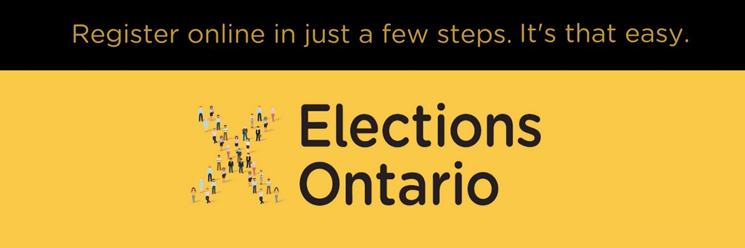 Register online in just a few steps. it's that easy. Election Ontario