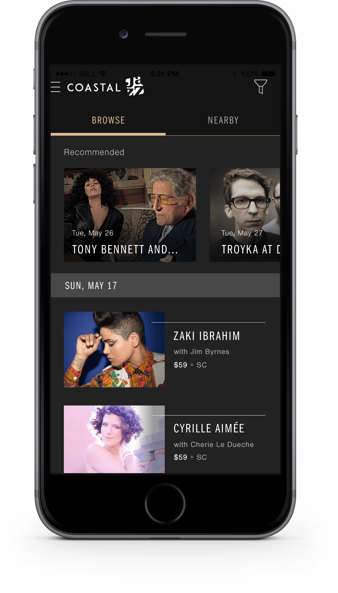 Coastal Jazz Mobile App