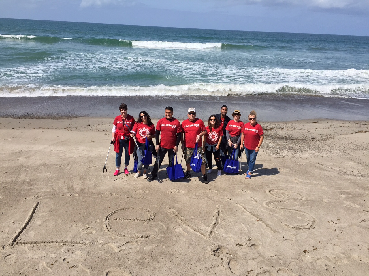Levi Strauss cleaning up San Clemente Beach