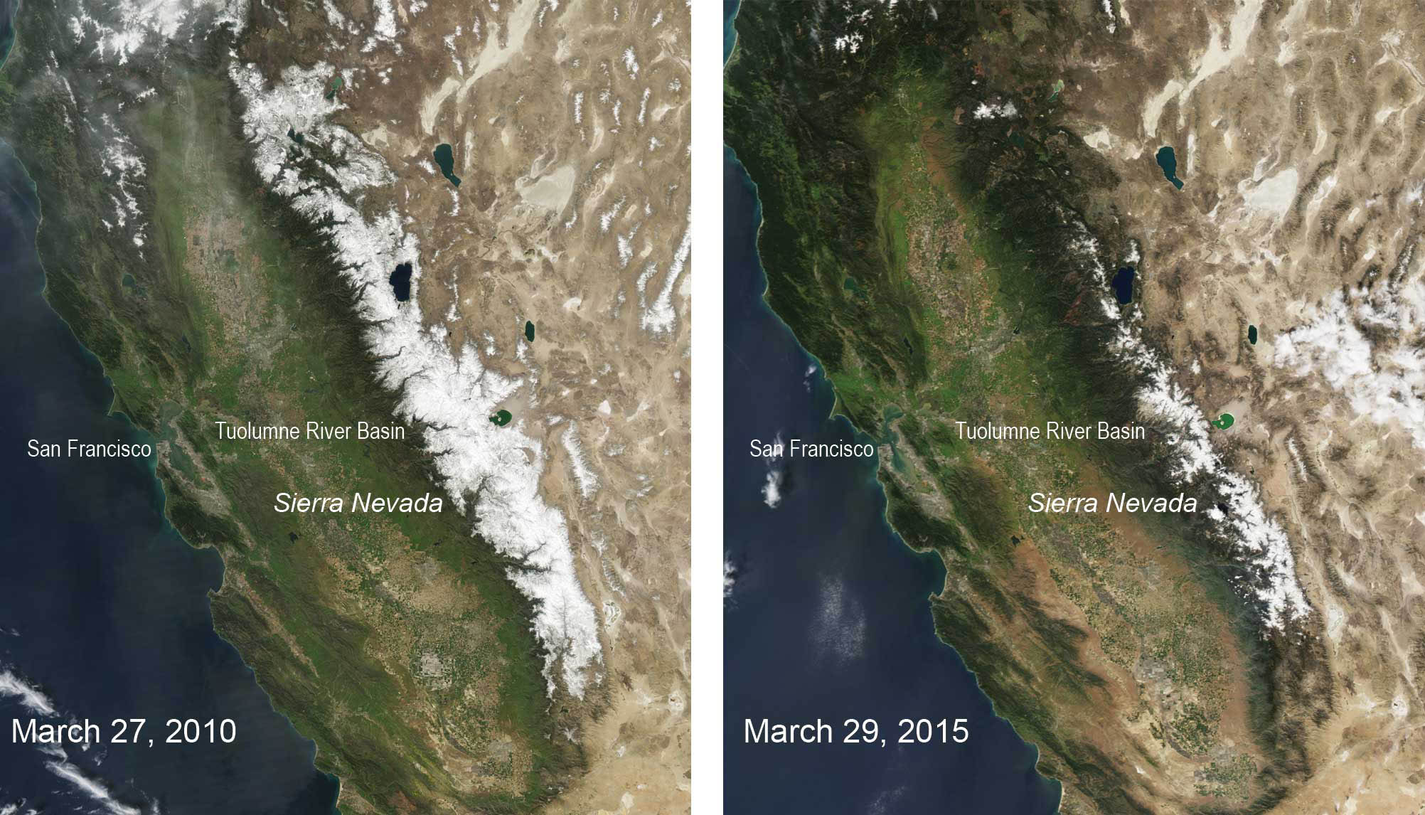 See California's snowpack diminished