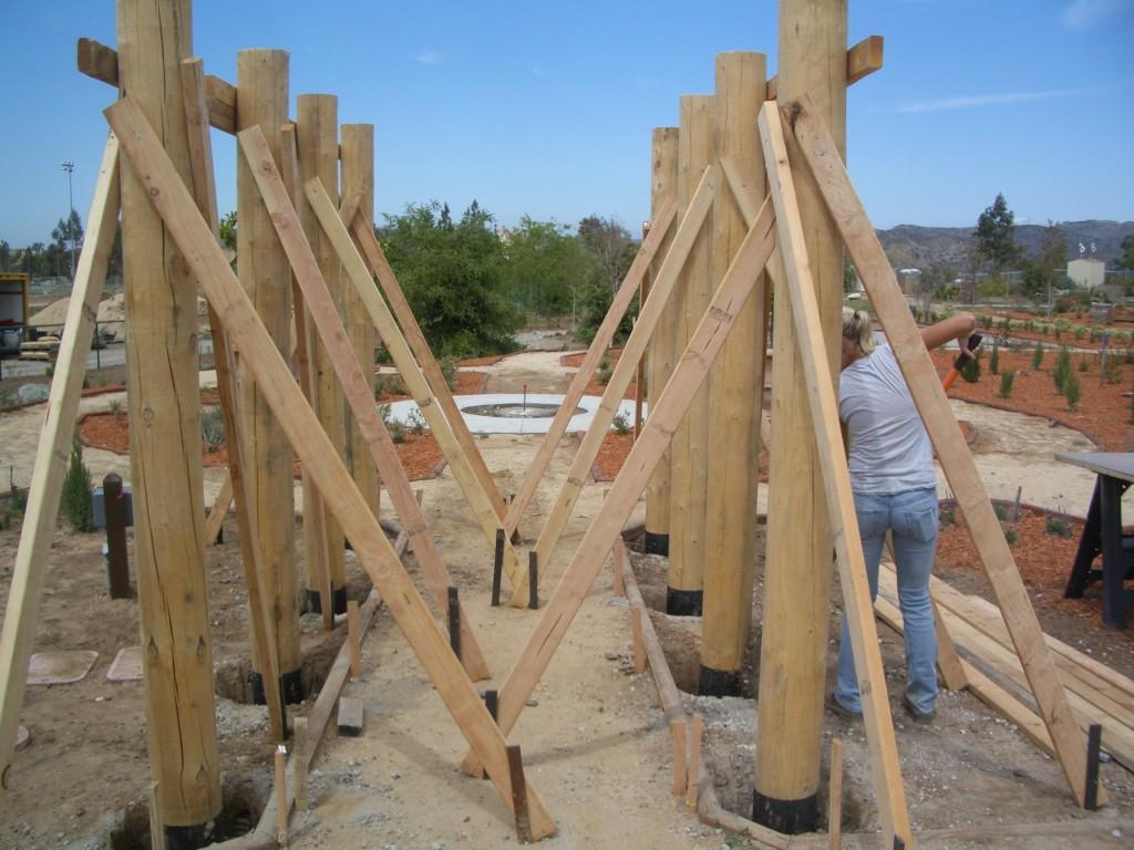 Building the trellis for the Italian Vignette