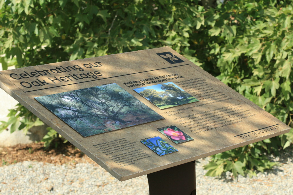 Interpretive panels placed throughout the garden offers a self-guided tour for visitors.