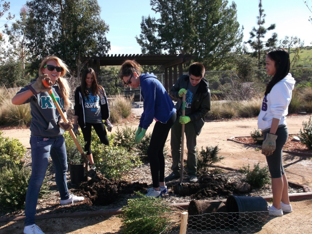 These Chapman University students are enjoying getting their hands dirty