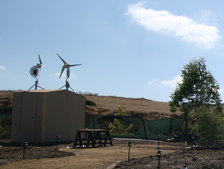 Wind Turbines to power lights around Garden