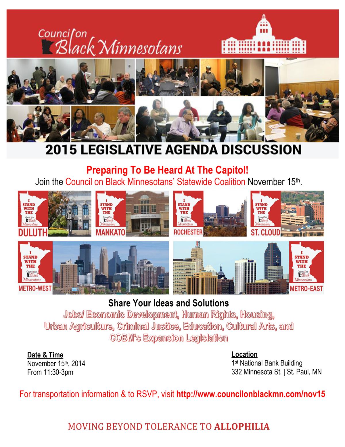 COBM 2015 Legislative Agenda Discussion