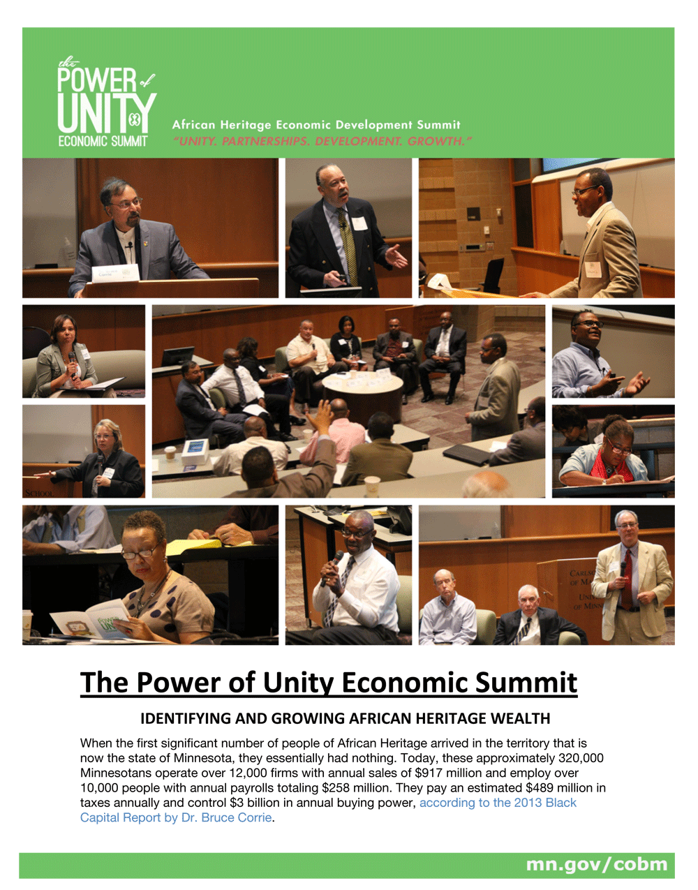 Recap of the 2014 Power of Unity Economic Summit