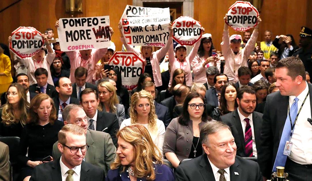Protesting Pompeo
