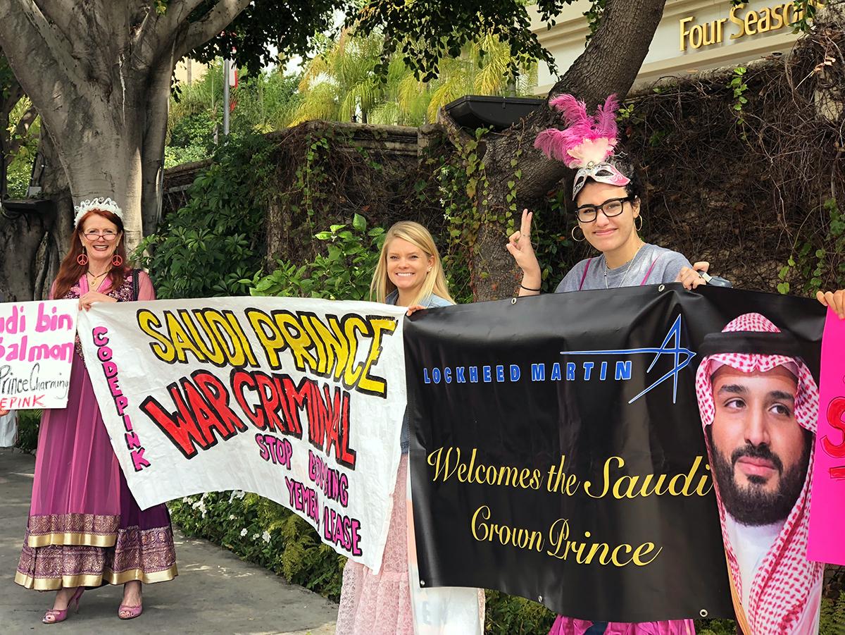 Protesting Prince Mohammed Bin Salman