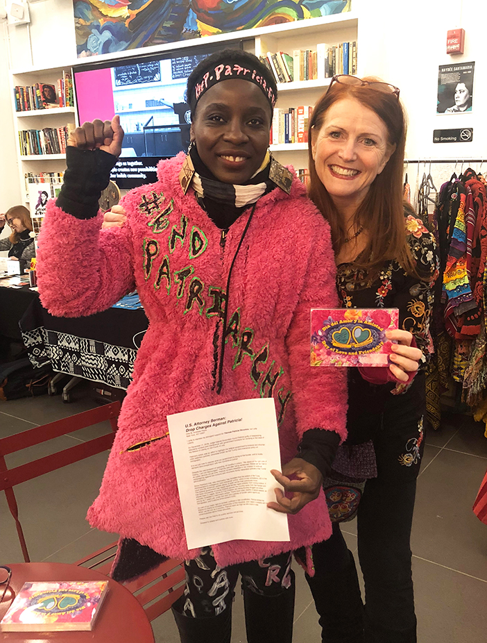 Patricia Okoumou with Jodie Evans